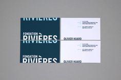 FONDATION RIVIÈRES rebranding on Behance #water #design #logo #identity #bnranding #rivieres #blue