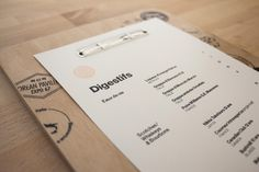 Projet 67 on Behance SIMPLICITY #menu