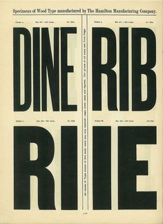 Hamilton Wood Type Catalog #14 #14