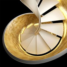 New Helical Staircase by Rizzi Scale - #stairs, #staircase, #stairway, #architecture