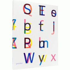 Twenty-six characters | Gestalten #gestalten #colors #book #typography