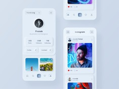 SKEUOMORPH STYLED INSTAGRAM UI CONCEPT BY PɅVɅN