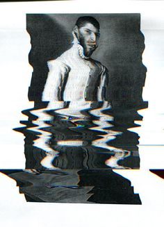 232_dirtyscan2-w #glitch print