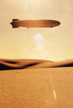 T H R T B R K R S #sun #vintage #hindenburg #blimp #desert