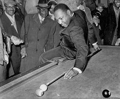 Hustle #mlk #billiards #behind the back #black and white