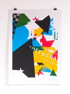 5 color screen print inspired by Notorious BIG's Juicy printed on 300gr Fedrigoni Arcoprint Milk #printmakingmoneygang