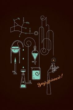 Alex Perez | BLDGWLF #burner #illustration #molecule #bunsen #beaker #tubes #science #test