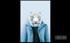 #tiger #minimal #poster #wild #animal #blue