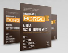 Riscopriamo Il Borgo on the Behance Network #flyer #design #graphic #typogreaphy #layout