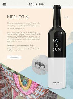Sol & Sun - Amy Martino - Design + Art Direction #wine #web #design