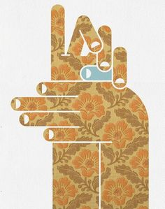 Eight Hour Day  Blog #illustration #pattern #hands
