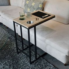 Keep all of your necessities comfortably within reach. #modern #lifestyle #design #home #product #industrial #style