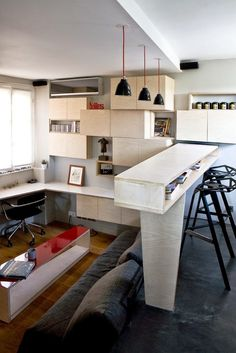 16 m² Tiny Apartment in Paris
