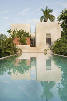 CJWHO ™ (Casa de Campo, Seyé, Yucatán, Mexico by Reyes Ríos...) #mexico #design #pool #architecture #residence #luxury