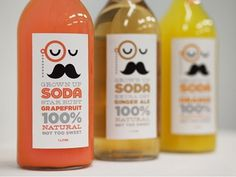 Dribbble - SODA by Alex Westgate #packaging #drink #moustache