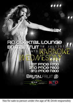 karaoke wednesday #house #typography #design #graphic #africa #wednesday #south #karaoke #kimberley #deep #club