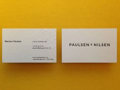 Paulsen & Nilsen #stationary #card #business