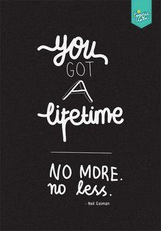 You Got A Lifetime by eugeniaclara #typo #poster #typography