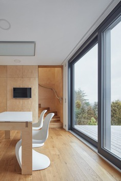 A Wooden Modular Family House That Was Built in One Day