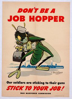 DON'T BE A JOB HOPPER - STICK TO YOUR JOB!