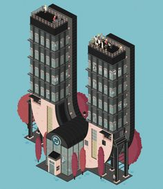 Animated Architectural Letterforms_6 #illustration #building