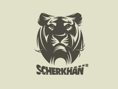 Logo Scherkhan by Gal Yuri #illustration #logo #vector #tiger