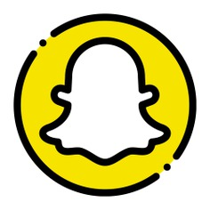 See more icon inspiration related to snapchat, logo, brands and logotypes, logos, logotype, social network and social media on Flaticon.