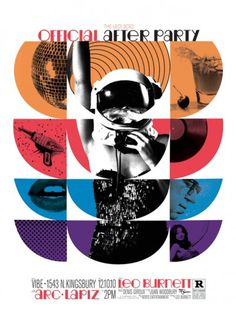 Leo Burnett Breakfast After Party Poster on the Behance Network #dance #color #retro #gibson #nico #poster #hip #party