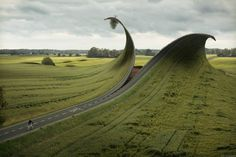Photo Manipulation by Erik Johansson #motorway #freeway #photo #zip #road #landscape #manipulation