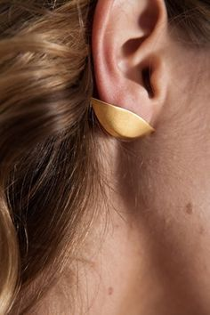 lobe earrings #earring #gold