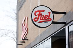 Fuel Signage by Commoner, Inc. #logo #sign #signage