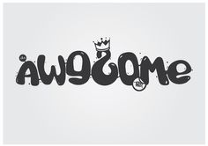 awesome by kic #logo #design #typography