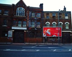 http://www.flickr.com/photos/wallb/ #coke #billboard #santa #london #advertising #coca #cola