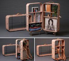 hanemaai: future travels - suitcase cabinet