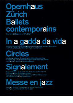 Ruedi Rüegg — Opernhaus Zürich Ballets contemporains (1972) #type