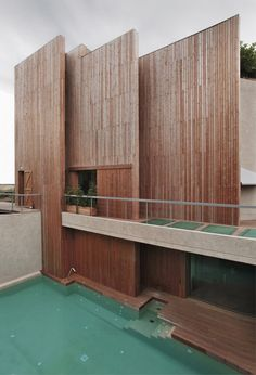 CJWHO ™ #wood #design #architecture #pool