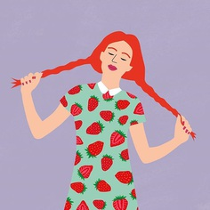 Strawberry Pigtails. By Shwin #illustration #illustrator #vector #vectorart #illustrationoftheday #printdesign #patterndesign #graphicdesign #gfxmob #artanddesign #illustrate #designspiration #strawberries #illustratorsofinstagram #illustrationgram #artistsoninstagram #artoftheday #printdesign #adobeillustrators #thedesignfix #designarf #designarchives
