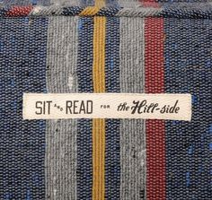 FFFFOUND! | cork grips #fabric #typography