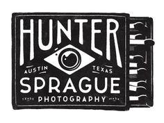 Dribbble - Hunter Sprague Photography logo by Simon Walker #type