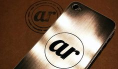 Stainless Steel iPhone Plate | BrandPress Co. #steel #branding #illustrator #iphone #identity #logo