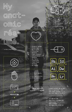 Anatomic résumé #graphic design #inspiration #resume