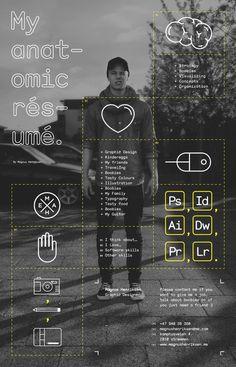 Anatomic résumé #inspiration #design #graphic #resume