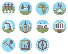 Pictograms on the Behance Network #icons #pictograms
