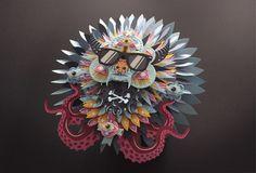 Voodoo on Behance by Shotopop #sculpture #paper #sculpting