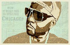 GLC | Illustration | KyleMosher.com #glc #design #newspaper #illustration #rapper #vintage #hip-hop