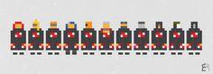 Mini Pikzels #edzel #pixel #black #rubite #chronicles #akatsuki #naruto #sknny #shippuuden