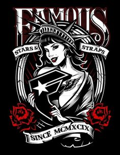 FAMOUS/WILD ONES on the Behance Network #liberty #woman #famous #roses #tee #america