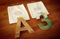 Wood letters Helvetica #typography #wood #letters