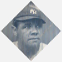Paddle8: Pinstripes - Colin Goldberg #mlb #ruth #yankees #painting #york #pinstripes #babe #new