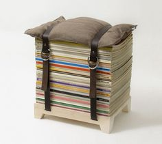 HUH. Magazine - Magazine Stool from NJUStudio